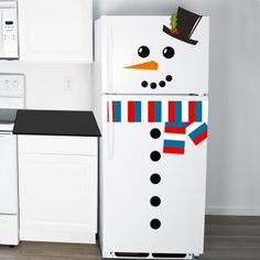Fridge Snowman :: Buy now with Fast UK Delivery. Small Fridge Freezer, Large Fridge, Personalized Christmas Gifts, Christmas Gifts For Her, Small Fridges, Festival Decorations, Some Fun, Snowman, Colours