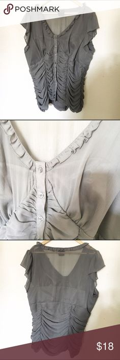 "🎉FIRM🎉 Torrid Chiffon Button up Sheer Blouse Shirt is a button up. Great condition l. Has lining. But is sheer up top in bust area. Measurements: Bust- 21.5"" Length- 25.5"" Material: 100% Polyester torrid Tops Blouses"