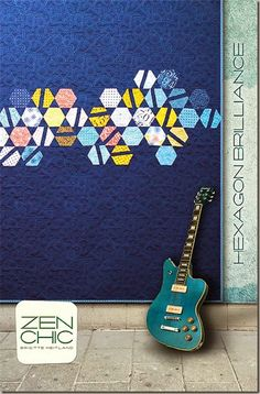 Hexagon Brilliance modern quilt pattern #ZenChic, www.brigitteheitland.de