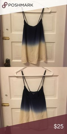 Madewell Ombré tank Madewell Blue Ombre Cross Back Tank Madewell Tops Tank Tops