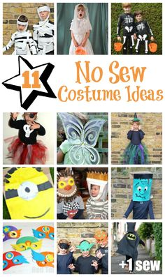 No Sew Costume Ideas – ideal for Halloween