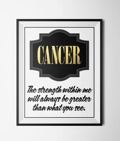 Cancer Quote Print