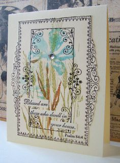 Jacqueline's Craft Nest: Wine-Lable winners and a Frame in a Frame card