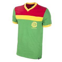 28a7ae09161 Vintage Cameroon 1989 Short Sleeve Soccer Shirt