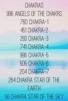 Sacred Number Codes for Chakras by Agesta. Energy Healing. Codes by Divine.