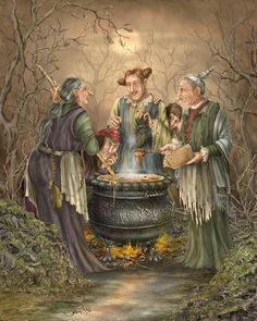 Let's Do Lunch by Beverly Levi-Parker ~ Halloween ~ witches their brew