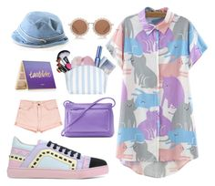 """Untitled #87"" by biinabnab ❤ liked on Polyvore featuring WithChic, Sophia Webster, Coach, ILI, tarte, Anastasia Beverly Hills, Benefit, Catherine & Jean, House of Holland and Current/Elliott"