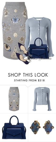 """""""Untitled #5838"""" by brassbracelets ❤ liked on Polyvore featuring Alexander McQueen, RED Valentino, Proenza Schouler, Paul Andrew and Cathy Waterman"""