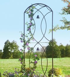 Merveilleux Metal Trellis | Metal Garden Trellis With Two Bells   Plow U0026 Hearth Music  Garden,