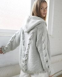 SeaBeaL Create: Gilet Agnela Phildar - Free Tuto - Lilly is Love Knit Cardigan Pattern, Sweater Knitting Patterns, Knit Vest, Crochet Cardigan, Knitting Designs, Knit Crochet, Vest Outfits For Women, Clothes For Women, Knit Fashion