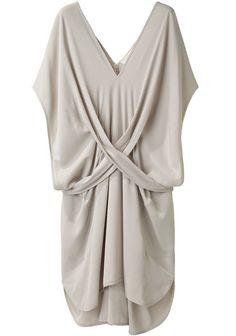 Vanessa Bruno  Silk Crepe V-Neck Dress