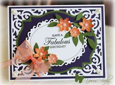 Spellbinders Vintage Filigree, Labels 18, Floral Ovals, SU Little Leaves, Flower punch *layout