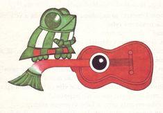 Illustrations by Květa Pacovská for Jak Se Hraje Na Dvere a Jine Muzikantske Pohadky (roughly: How to Play on Doors and Other Musical Stories) by Ilja Hurnik (Prague, 1973)