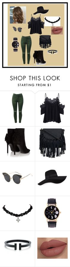 """Afternoon Casual"" by alexis-kitten on Polyvore featuring Yves Saint Laurent and San Diego Hat Co."