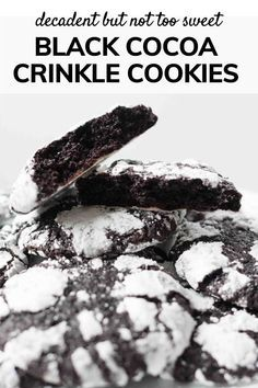 Black cocoa makes all the difference! These Black Cocoa Crinkle Cookies have a deep chocolate flavor that makes ordinary crinkle cookies OMG-Amazing!   #crinkles #chocolate #cocoa #blackcocoa #cookies #holidayCookies #holidayBaking #holidays #baking #SpoonfulOfButter