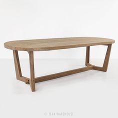 Danielle Reclaimed Teak Dining Table (Oval) - Dining Tables - Dining