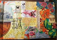 step by step instructions on how to build an art journal page