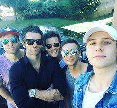 Got to spend some time with these boys again today! Love me some @anthemlightsband @spencerkanemusic @josephstamper @chadmgraham @calebgrimm #duckface #joeyssunglassesarebrighterthanthesunandiloveit #captainamerica #yeswewereinthestudio #moreonthatsoon #johnvarvatos #raybans #otherrandomsunglassbrands #taghuear
