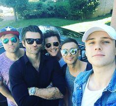 Got to spend some time with these boys again today! Love me some @anthemlightsband @spencerkanemusic @josephstamper @chadmgraham @calebgrimm #duckface #joeyssunglassesarebrighterthanthesunandiloveit #captainamerica #yeswewereinthestudio #moreonthatsoon #johnvarvatos #raybans #otherrandomsunglassbrands #taghuear