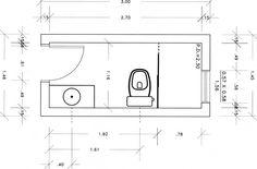 plantas de banheiros pequenos 2