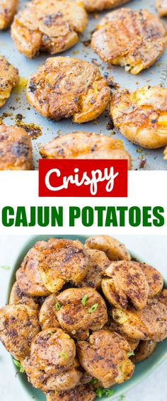 Baked Crispy Cajun Potatoes are seasoned with spicy Cajun spice mix and baked until perfectly crisp on the outside. These crispy baby potatoes made with only three ingredients addictive and a crowd pleaser for sure. #summerfood #summergrilling #potato #cajun #appetizer #partyfood