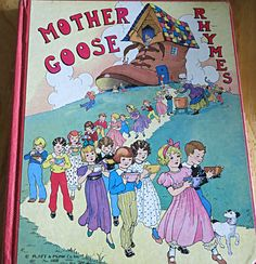 Mother Goose Rhymes 1933 Mother Goose Book Eulalie by mybonvivant