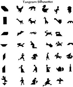 tangram silhouettes