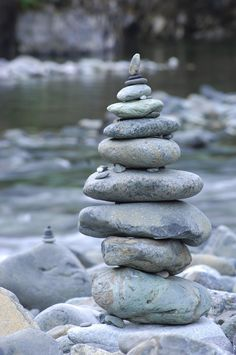 River rock stack