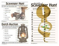 Free Printable Scavenger Hunt | Grab your free printable outdoor activity and camping game here .