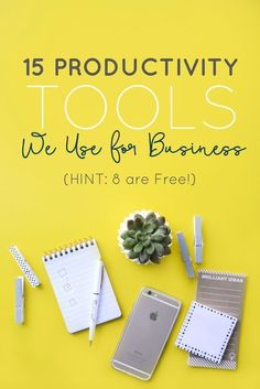 Organization and systems will help you get back to doing what you love, but also lets you take care of the necessities. We've gathered our top 15 productivity tools *(HINT: 8 of them are free!) to let you in on how we use them and how they could be big influencers in your business.