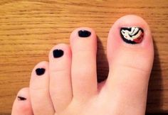 Go Denver Broncos! My toes done by Channon at Kara Nail before the Bronco VS Ravens game!