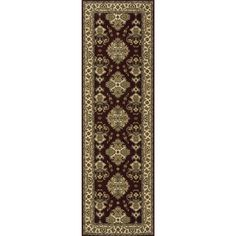 Persian Garden Power-loomed Burgundy Oriental Rug - PG-01BUR By Momeni Rugs