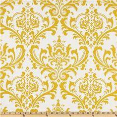 "Two  96"" x 50""  Custom Drapes - Rod Pocket Panels  in 100% Designer Cotton Fabric - Slub Yellow - Special Price. $95.00, via Etsy."