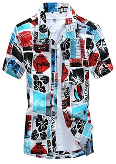 APTRO Men's Colorful Floral Printing Short Sleeved Summer Beach Shirt ST17 Red S APTRO http://www.amazon.co.uk/dp/B010LD8UIY/ref=cm_sw_r_pi_dp_-5oywb1CRMNNE