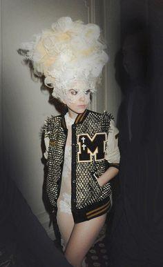 Studded letterman jacket Lady Gaga ;)