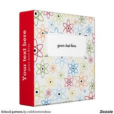 Sold. #School #pattern 3 ring #binder Available in different products. Check more at www.zazzle.com/celebrationideas