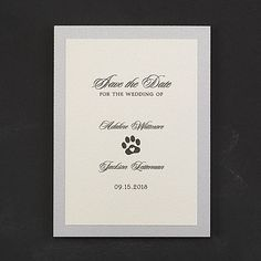 Puppy Love - Save the Date    |  40% OFF  |  http://mediaplus.carlsoncraft.com/Wedding/Save-the-Dates/3284-RT35912SD-Puppy-Love--Save-the-Date.pro