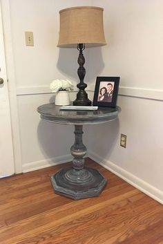 Rustic Farmhouse Pedestal Table Round Table Wood Table Side