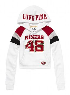 Victoria s Secret PINK® San Francisco 49ers Shrunken Pullover Hoodie   VictoriasSecret ... 230c8098a