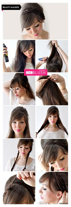 How to make this braided updo! www.theblush.com #tutorial #diy