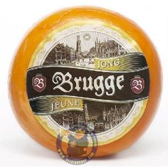 ⚑⚑⚑ Belgian Cheeses - Jeune BRUGGE Young Gouda, roll ± 900 g - Young of Brugs is a Belgian Gouda Belgomilk Young is a cheese matured for at least 5 weeks. Cheese Trays, Gouda, Menu Cards, Rolls, Cheese, Gourmet, Packaging, Fine Dining, Computer Mouse
