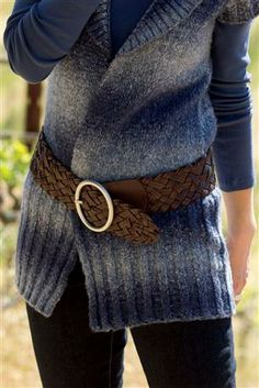 Wide-Woven-Leather-Belt