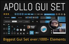 Apollo GUI Set, The Biggest GUI You Have Ever Seen #freebies #webdesign