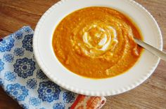 Whole Foods On A Budget: Carrot (Zucchini--shh!) Soup -- for the budget conscious.
