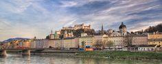 Salzburg old city skyline Salzburg Austria, Old City, Louvre, Skyline, Building, Travel, Viajes, Old Town, Buildings