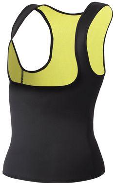 f46bc82d4c1 Womens Slimming Neoprene Sweat Hot Shirt Body Shapers for Weight Loss No  Zip 2XL Black -