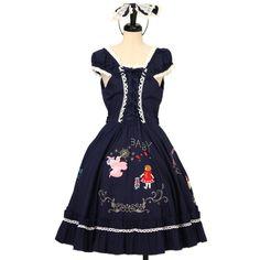 ♡ BABY THE STARS SHINE BRIGHT ♡ Wizard of Oz applique circular Dark blue jumper skirt + headband http://www.wunderwelt.jp/products/detail12986.html ☆ · .. · ° ☆ How to order ☆ · .. · ° ☆ http://www.wunderwelt.jp/user_data/shoppingguide-eng ☆ · .. · ☆ Japanese Vintage Lolita clothing shop Wunderwelt ☆ · .. · ☆