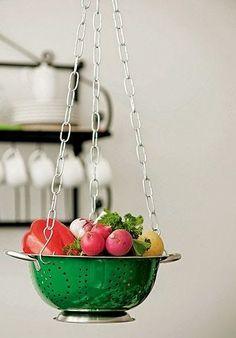 Fruteiras Suspensas - Criatividade para Cozinhas Pequenas ou Não! (via Bloglovin.com )