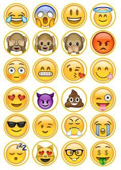 Emoji 2  oblea comestible papel de arroz torta Cupcake