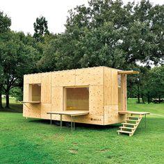 #architecture : 隈研吾とスノーピークによる、旅する建築《住箱》。 | カーサ ブルータス
